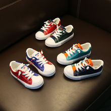 2019 spring and autumn new childrens shoes canvas boys girls color tide