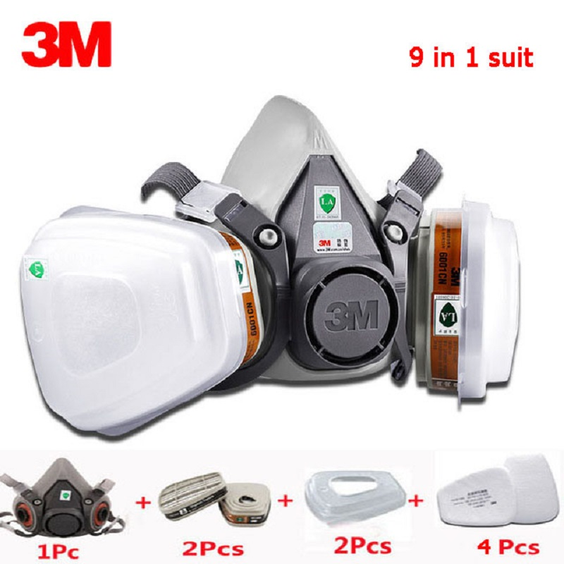 20pcs Respirator Paint Spraying Face Gas Mask Replace Fitting For 3m 6200 White Good Taste Back To Search Resultstools