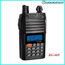 WOUXUN Ham Two Way Radio KG-669 400-470 MHz with 1300mAh Li-ion Bettery Walkie Talkie