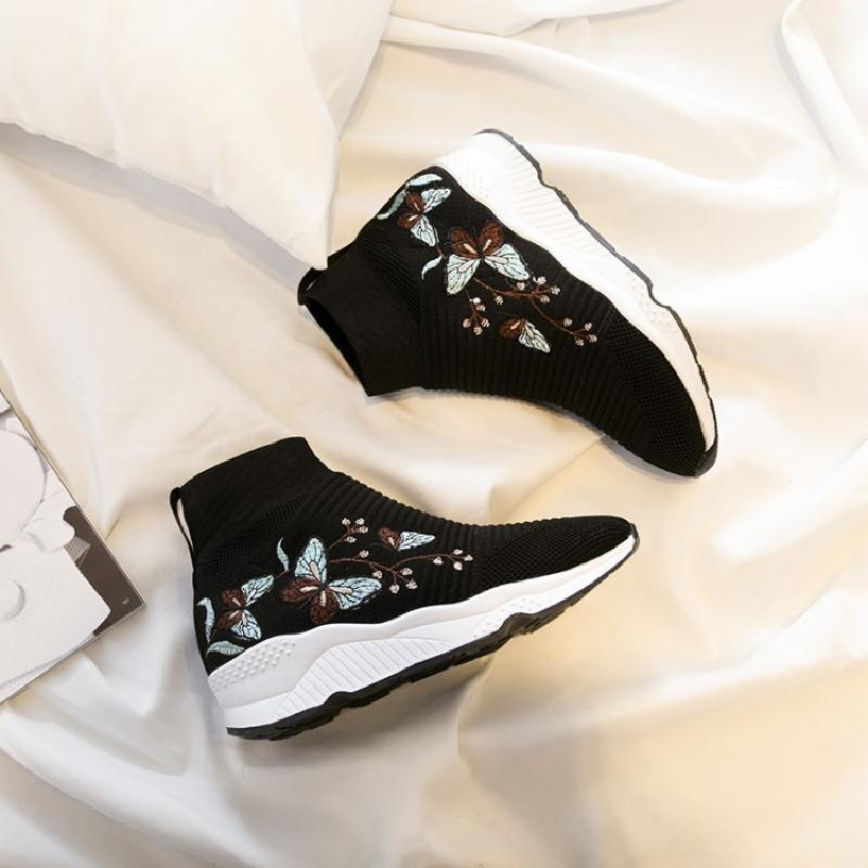 2018 autumn and winter fashion embroidered shoes increased within the high shoes sneakers flat high boots snow boots slip 2017brand sport mesh men running shoes athletic sneakers air breath increased within zapatillas deportivas trainers couple shoes