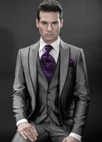 New Arrival Groom Tuxedo Groomsmen Peak Lapel Wedding/Dinner/Evening Suits Best Man Bridegroom (Jacket+Pants+Tie+Vest) B149