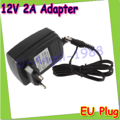 AC 100-240V to DC 12V 2A Converter Adapter Switching Power Supply Charger For LED Strips Light EU Plug ac 100 240v to dc 12v 2a switch switching power supply converter adapter eu uk us au 5 5mm 2 5mm plug free shipping