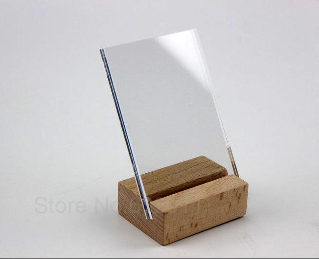 100*70mm Acrylic Sign Label Picture Photo frame Wooden ...