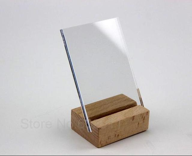 Excellent 100*70mm Acrylic Sign Label Picture Photo frame Wooden Sign  DV27
