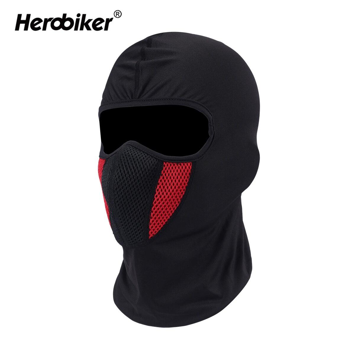 HEROBIKER Balaclava Moto Gesicht Maske Motorrad Gesicht Schild Tactical Airsoft Paintball Radfahren Bike Ski Armee Helm Full Face Maske