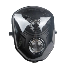12V-80V ABS Plastic Modified M3 MSX-125 Dirt bike Bobber Projector Universal LED Headlight for  Motorcycle