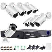 DEFEWAY HD 1080P P2P 8 Channel CCTV System Video Surveillance DVR KIT 8PCS Outdoor IR Night
