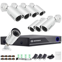 DEFEWAY HD 1080P P2P 8 Channel CCTV System Video Surveillance DVR KIT 8PCS Outdoor IR Night