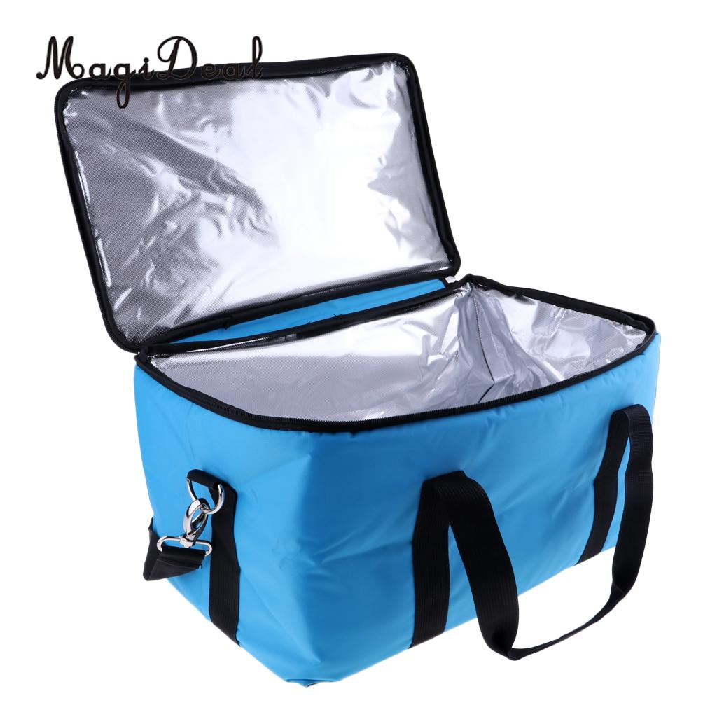 MagiDeal Collapsible Insulated Lunch Box Cooler Bag Tote Container SnapBasket Black