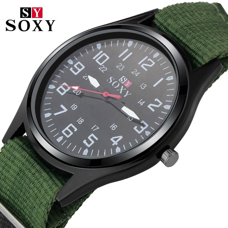 Reloj de nailon a la moda para hombre, nuevo reloj deportivo de cuarzo para hombre, relojes militares, reloj Delgado analógico masculino de estilo tiburón