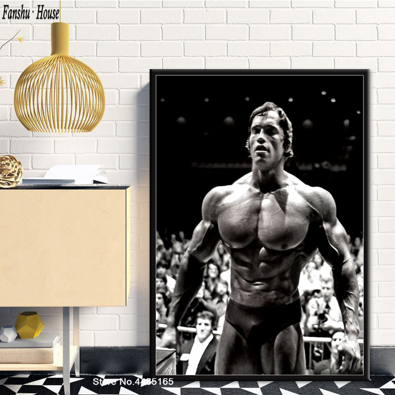 Arnold Schwarzenegger Poster Bodybuilding Motivational Quote Posters And Prints Canvas Painting Wall Art Picture For Home Decor
