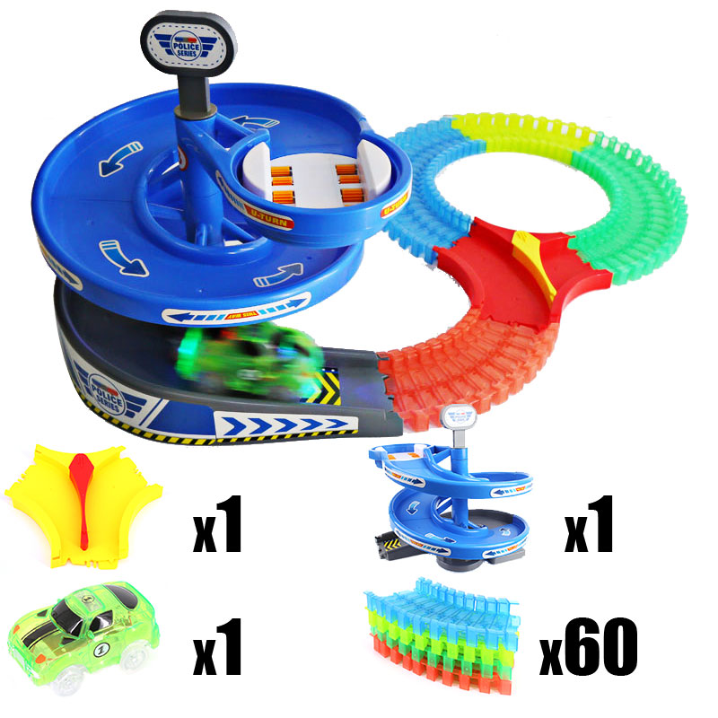 60 pcs Track Car Kit