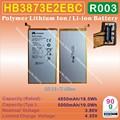 [HB3873E2EBC] 3.8 V 4850 mAh/5000 mAh Li-Polímero de íon de lítio Móvel/tablet pc bateria para huawei x1 x2 7d-501u 501l 503L