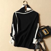 Thick Turtleneck Warm Women Sweater Autumn Winter Patchwork Knitted Femme Pull High Elasticity Soft Female Pullovers Sweater