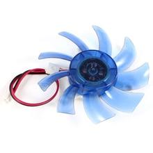 75 мм 12VDC Синий Пластиковый VGA Видеокарта Кулер Вентилятор Охлаждения для Компьютера
