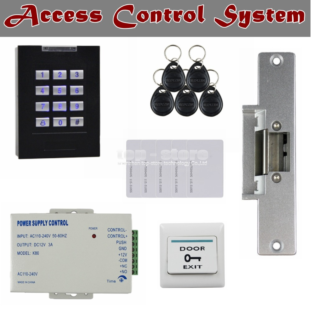DIYSECUR 125KHz RFID Reader Blue Backlight Keypad Door ...