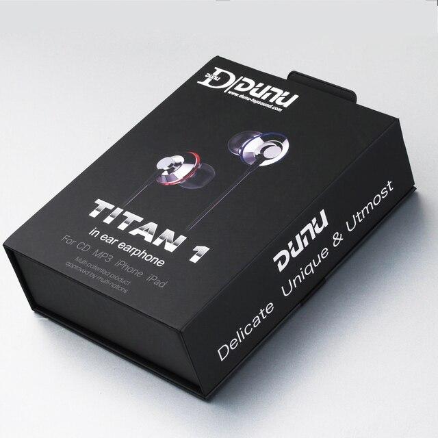 DUNU TITAN1 Titanium Diaphragm Dynamic Driver HIFI In-Ear Monitor Earphone Perfect Transient Response TITAN-1 Titan 1 6