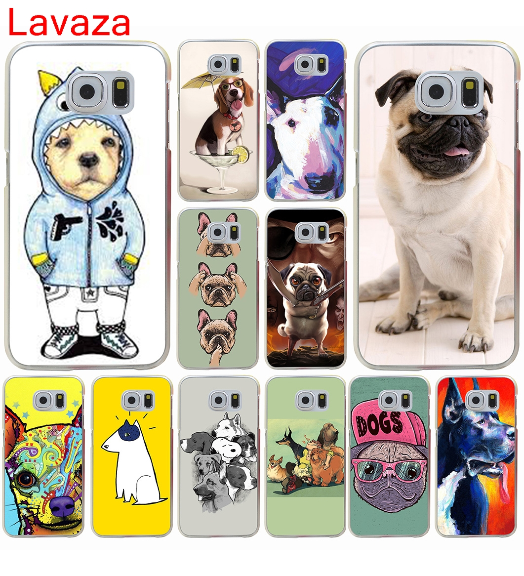 Lavaza Tattooed Bullterrier Cute dog Biaoqing Hard Transparent for Galaxy S4 S5 & Mini S6 S7 S8 edge S6 Edge Plus