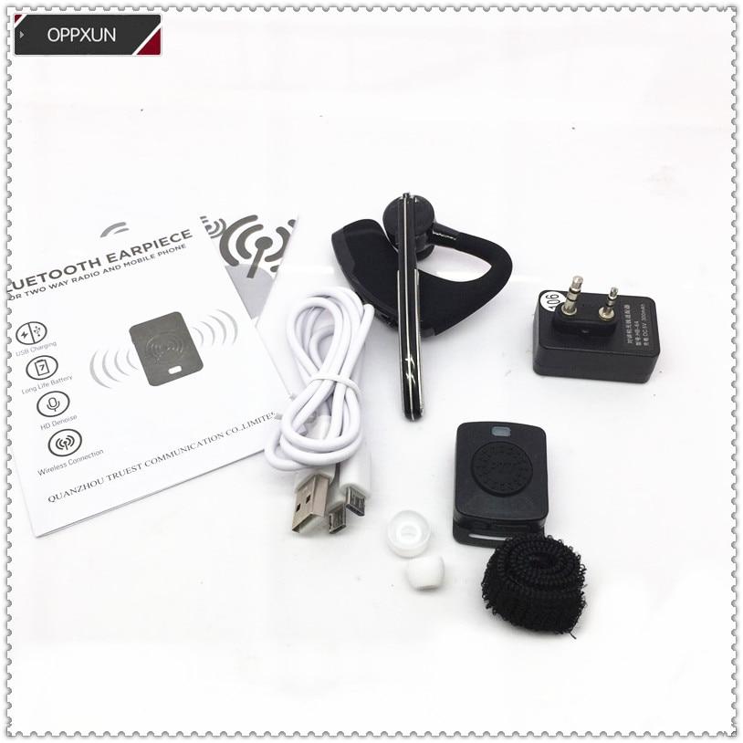 K-Head de auriculares Bluetooth inalámbricos universales para baofeng UV5R UV82 UV6R UV8 2PIN for kenwood TK3107 radios J65
