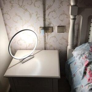 Image 4 - Nordic Kreative Kunst Deco Dimmbare LED Tisch Lampe Minimalismus Moderne Runde Schreibtisch Tisch Licht Nacht Lampe Persönlichkeit Geschenk