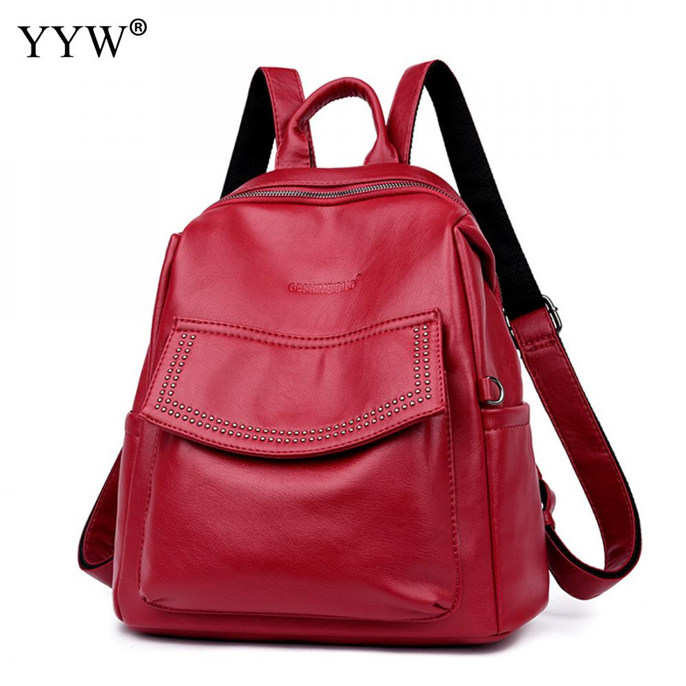 Travel Backpacks Women Mochilas Notebook School Pu For Lady Letter Small Exquisite Korean