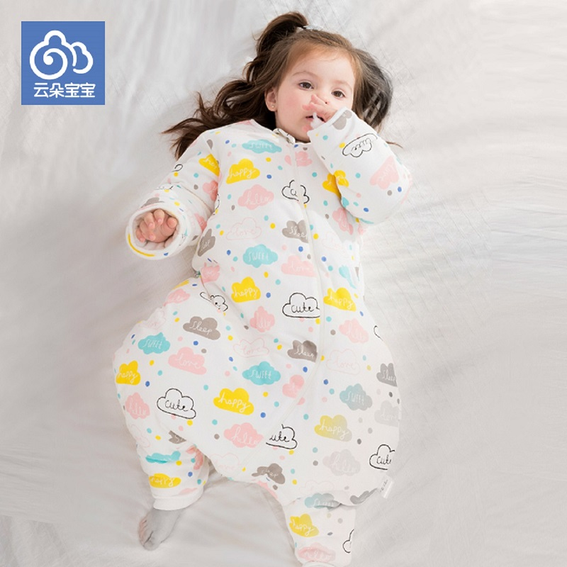 Baby baby sleeping bag and straddle style of cotton male children 0-1-2-3-6 years old virgin thick anti kick is winter owl style male baby s organic cotton