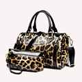 Genuine Patent Leather Woman Messenger Bag Fashion Lady Leather Party Evening Woman Bag Leopard Woman Casual Tote Free Shipping