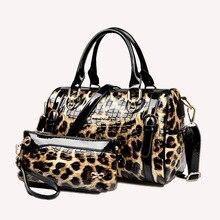 Echte Lackleder Frau Umhängetasche Mode Dame Leder Partei Abend Frau Tasche Leopard Frau Lässige Kostenloser Versand