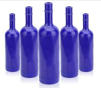 Kitchen Dining Barware Bar Tools blue plastic ABS fancy bartender cocktail practice bottle free shipping