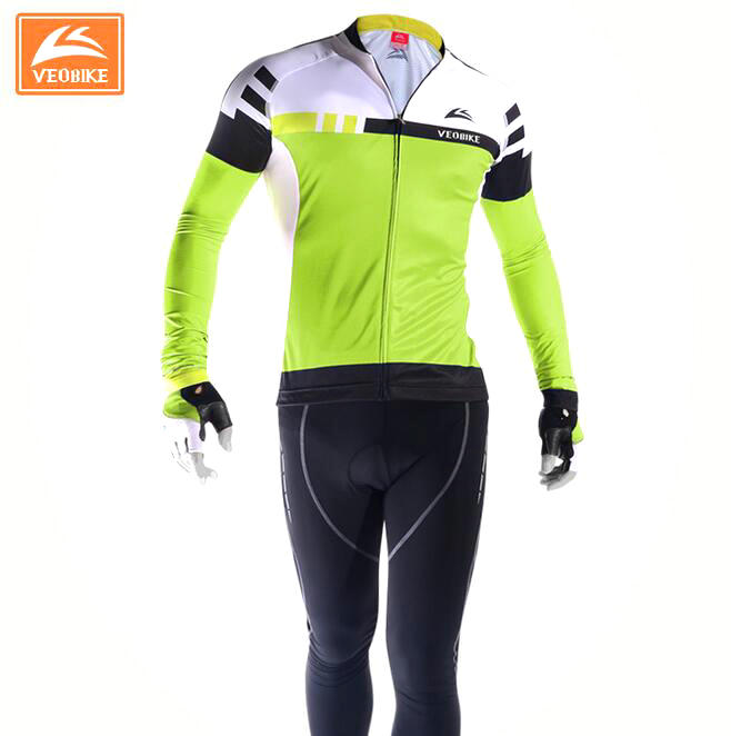 VEOBIKE 2017 high-end race-class cycling sets Spring  Summer long-sleeved riding appare jerseys pants  BTM bicycle suit clothing live team cycling jerseys suit a001
