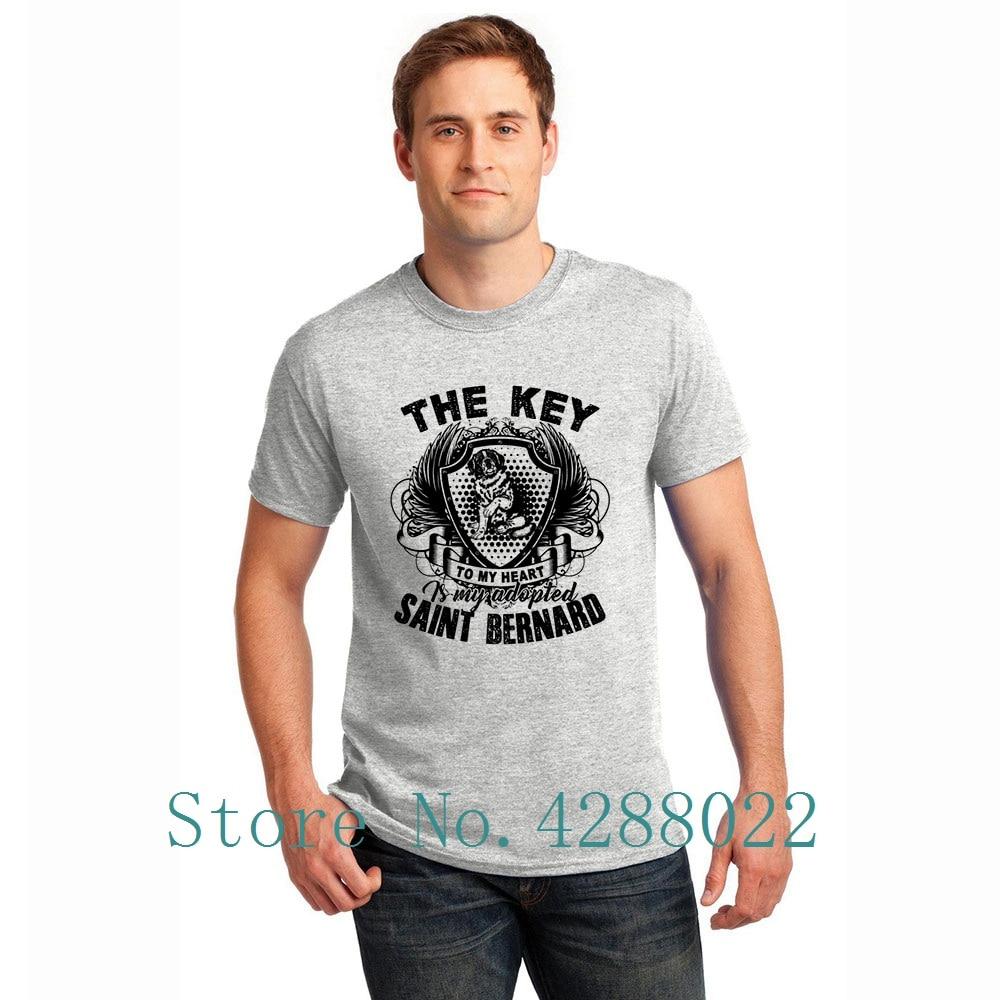 70e899fd Saint Bernard Dog T-Shirt Man Round Collar Custom Fitness T Shirt  Streetwear Male Big Size Xxxl Hilarious Top Quality