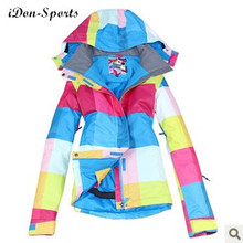 New famous brand Gsou Snow colorful windproof women's snowboard jackets outdoor girl ski jackets hoody skiing suits top quality