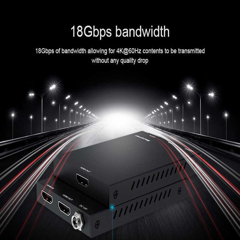 4K при 60 Гц 50 m HDMI удлинитель 4 K HDCP 2,2 HDMI 2,0 удлинитель по Cat6 Cat7 кабелей с ИК RJ45 передатчик TX/RX HDMI Extender петли