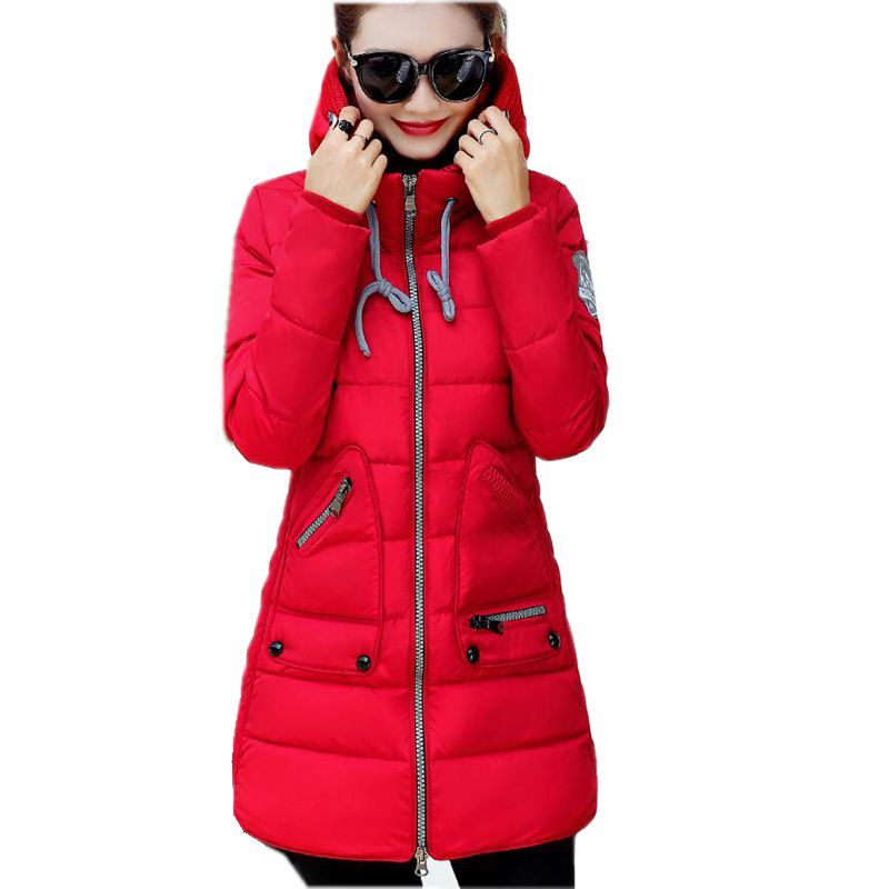 New Winter Fashion Women Cotton-padded clothes Hooded Thickening Super warm Medium long Coat Loose Big yards jacket NZ411 2015 cotton padded elderly warm thickening long cotton padded jacket mens new single breasted wholesale zipper loose coat d10