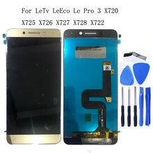 Оригинальный ЖК монитор для LeTV LeEco Le Pro 3 X720 X725 X727 X722 X728 x726, ЖК дисплей для сенсорного экрана, аксессуары + инструмент