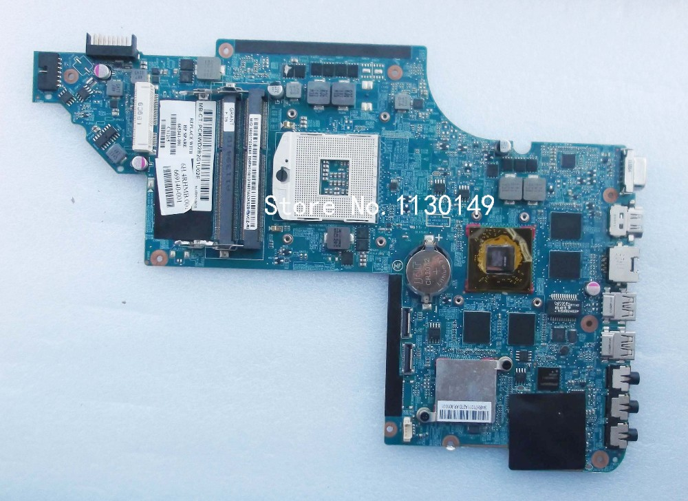 Free Shipping 665341-001 Laptop Motherboard For HP Pavilion DV6T DV6-6000 motherboard HD6770 2GB Notebook PC Tested OK free shipping ems 48 4st10 031 681999 001 laptop motherboard for hp pavilion dv7 notebook pc