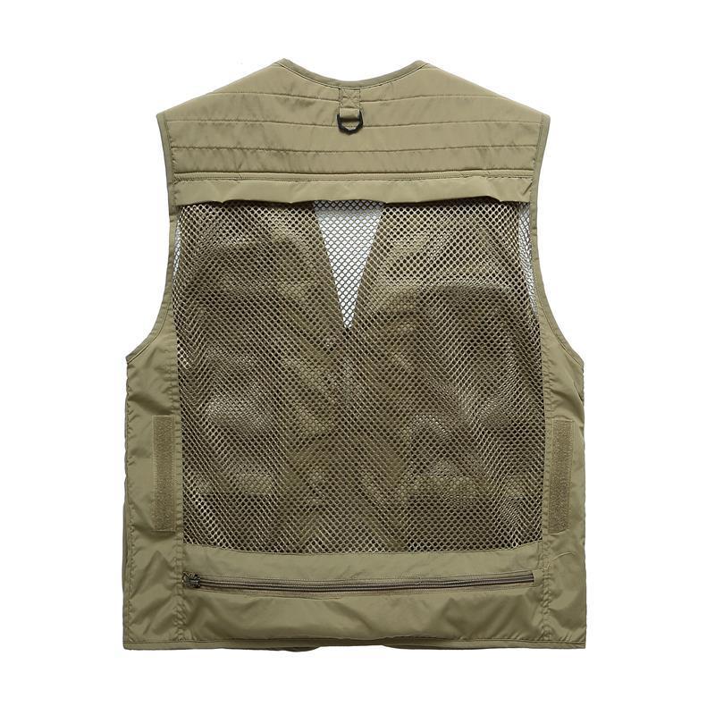 2017 Polyester Fibre Mesh Vest Outdoor Voor Directeur Jacht Camping Fotograaf Vissen Vest Heren Multi Pocket Jas