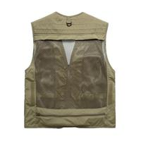 2017 Polyester Fibre Mesh Vest Outdoor For Director Hunting Camping Photographer Fishing Vest Mens Multi Pocket Jacket