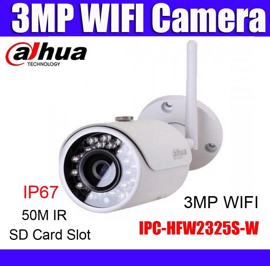 bilder für Dahua wifi ip-kamera IPC-HFW2325S-W ersetzen IPC-HFW1320S-W 3MP IP67 Sd-kartensteckplatz wireless outdoor kamera Russische englisch französisch