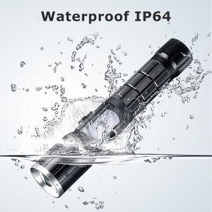 Image 4 - Haute puissance rechargeable T6 led 18650 lampe de poche tactique lintern usb ultraviolets lampes de poche mécaniques Flashlight