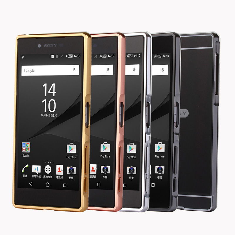 For <font><b>Sony</b></font> Z 5 Dual Mirror Plating Metal Frame Case Cover With Back Cover Hard Case for <font><b>Sony</b></font> <font><b>Xperia</b></font> <font><b>Z5</b></font> E6653 <font><b>E6683</b></font> 5.2