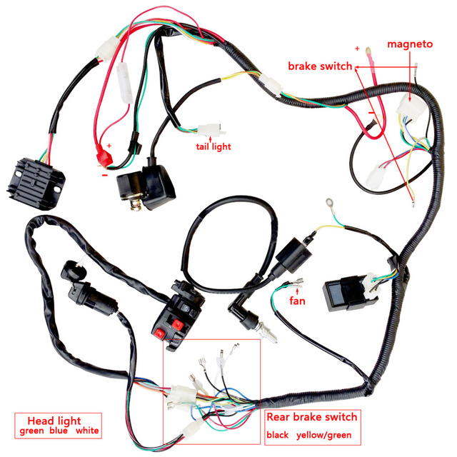 4 Wire Cdi Chinese Atv Wiring Diagrams 150 200 250ccatv Quad Electric Full Set Parts Wire Cdi