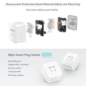 Image 3 - מקורי שיאו mi mi Jia mi חכם שקע משופר גרסה אלחוטי WiFi שלט רחוק זמן הגדרת חשמל סטטיסטיקה USB תקע