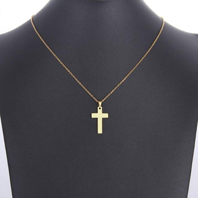 Ожерелье из нержавеющей стали dotifi для женщин и мужчин крест