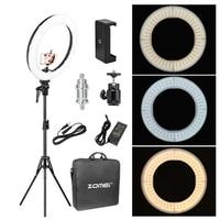 Zomei Led макияж свет кольцо комплект фотографическое освещение камера свет лампы с подставкой для видеосъемки Youtuber студия смартфон