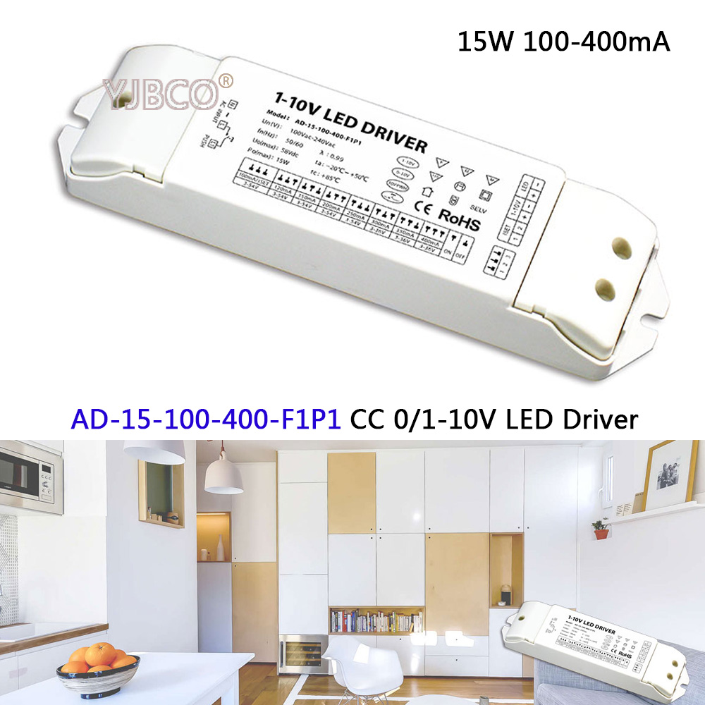 Ltech 0 1 10v Led Dimming Driverad 15 100 400 F1p1ac100 240v Emergency Ballast With Low Voltage Dimmer Wiring Input 3 54vdc Output 15w 400ma Cc Driver
