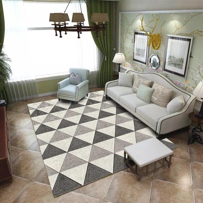 Moderne minimaliste art abstrait salon tapis table basse chambre pleine personnalisée rectangulaire grand tapis - 4