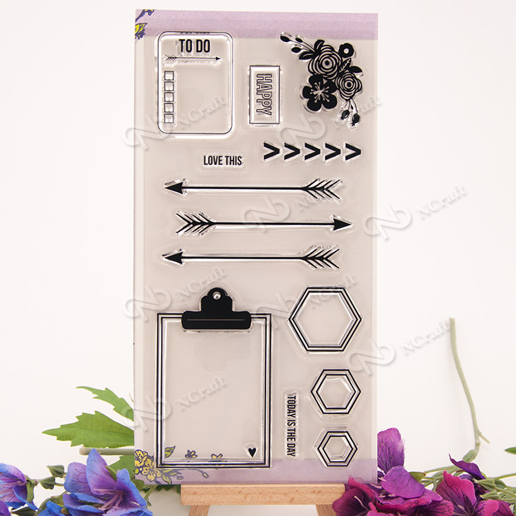 1 Sheet The arrow Transparent Clear Silicone Stamps for DIY Scrapbooking/Card Making/Kids Fun Decoration Supplies Flower kscraft butterfly and insects transparent clear silicone stamps for diy scrapbooking card making kids fun decoration supplies