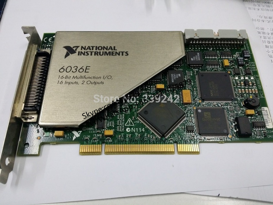 PCI-6036E National Instruments PCI-6036E NI DAQ Card 16 bit Analog Input, Multifunction CARD PCI-6036E compatible new lower sleeved roller bushing for canon ir155 ir165 ir1600 ir2000 ir2010 20 pairs per lot