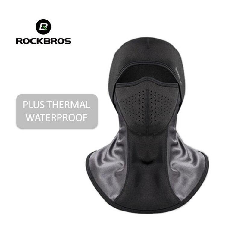 ROCKBROS Skiing Bibs Thermal Fleece Face Mask Ski Scarf Snowboard Hats Plus Dustproof Filters Winter Cycling Camping Balaclava